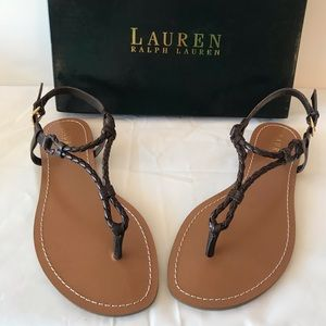 Ralph Lauren Alexa Sandal Dark Brown